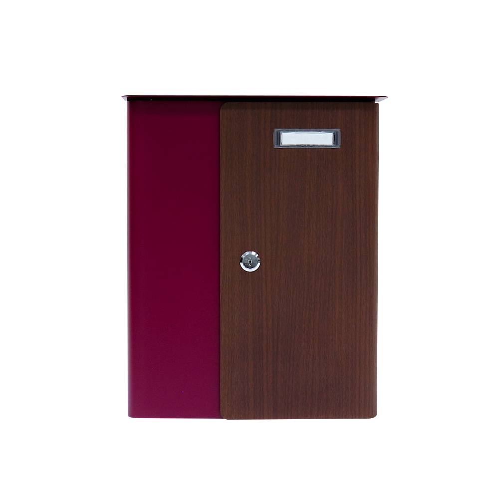 Rottner Briefkasten Splashy Korpus BERRY Tür Holzoptik