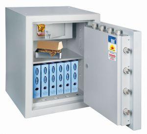 Rottner feuersicherer Wertschutzschrank EN5 Resort 130 IT Fire Premium Doppelbartschloss lichtgrau