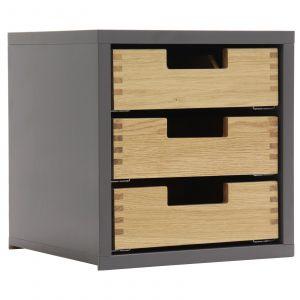 Rottner Holzeinsatz mit 3 Laden  für Tresore