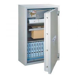 Rottner feuersicherer Papiersicherungsschrank EN2 GigaPaper 120 Premium Doppelbartschloss weißaluminium