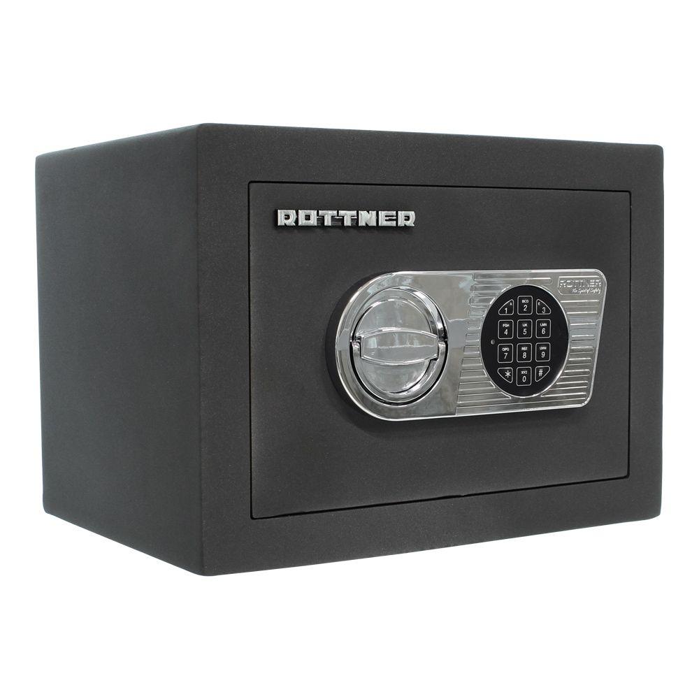 Schranktresor Elektronikschloss Anthrazit EN1 M/öbeltresor Tresor Safe Rottner Wertschutzschrank Toscana 26